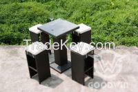 5pcs outdoor furniture plastic rattan bar set