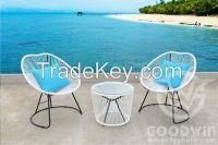 Steel frame garden outdoor furniture rattan leisure set