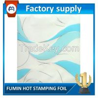 best selling PET material hot stamping foil for PVC wall paneling, ceilings, aluminum ceilings