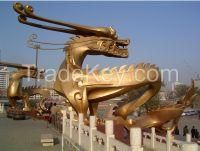 Gilding with 24k Real gold Fiberglass Large Sculpture
