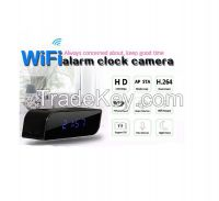 Wifi hidden camera clock P2P clock camera remote control nanny camera