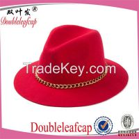 Wholesale Wide Brim Felt Hat/100% Wool Felt Hat Fashion Custom Wool Fe