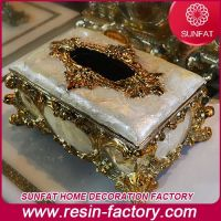 Polyresin Home Decoration Tissue Box