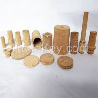 Bronze/copper/brass/stainless steel metal powder sintered filter silencer