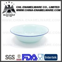 Customized salad fruit mixing soup cereal wash enamel bowl