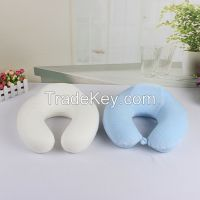 U shape memory foam pillow neck speaker pillow/inflatable pillow/funny pillow
