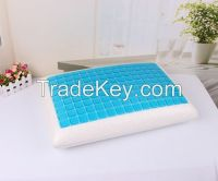 Gel memory foam pillow/cooling silicon pillow, rectangle pillow filling with memory foam