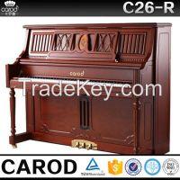 red walnut piano ebony black Keys Material and Fiberboard Shell Material piano