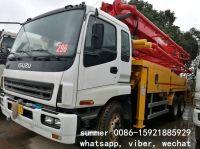 used 37m putzmeister-isuzu concrete pump truck for sale in china