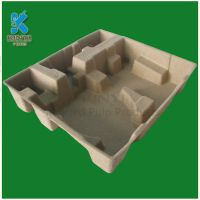 Recyclable Customized Molded Paper Pulp Router Packaging Trays