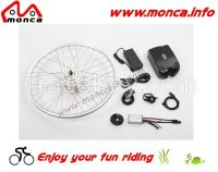 350W 36V Brushless Gear Motor Electric Bicycle Kits/Parts with LED Display and Throttle Optional