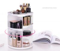 360 spinning rotating makeup stand organizer cosmetic storage display rack