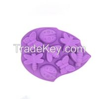 8 Cavity Insect Silicone Cake Molds