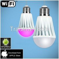 smart lighting wifi led lights bulb IOS Android APP system