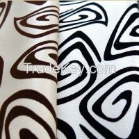 Flock PU leather material for sofa and home decoration usage