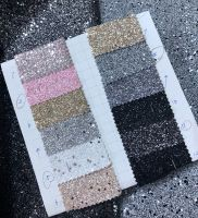 Glitter leather material for purse and wallpaper usge