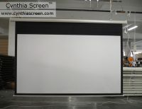 Cynthia Screen HD Matte White Motorized Projector Projection Screen (120 Inch)