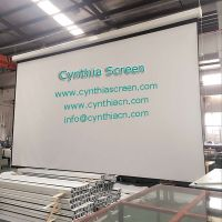 High Clear Matte White Fabric Motorized Electric Screen in Projection Screens 84inch