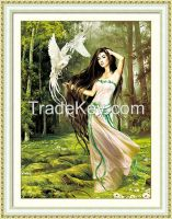 Manufacturer supply unique gift sexy modren woman crystal diy diamond painting