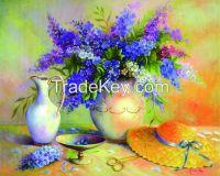 Factory wholesale canvas decorative modren diy diamond oil painting