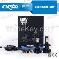 2016 hot sale all in one 6500k 12v 24v car h4 h7 h8 h9 led headlights
