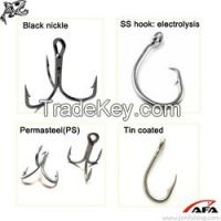 Nickel Golden Electrolysis PS Tin Coated Fishing Hook