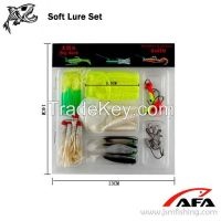 35 Worm Soft Lure Baits Small 10 Lead Head Jig Hook Soft Lure Set Fish