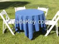 folding tables and chairs for outdoor wedding party ceremony sports events