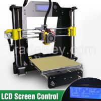 5S LCD 3D printer 2015 new high quality prusa reprap I3 A602 kit mega