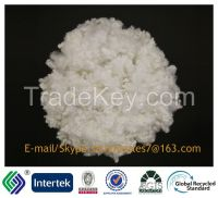 12DX51MM super white filling material recycled siliconized staple fibe