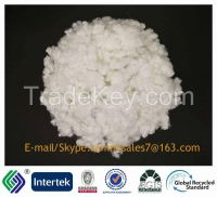 15DX64 siliconized recycled staple fiber superwhite filling material