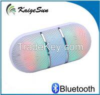 Outdoor Portable Capsule Pill Handsfree Call LED Mini Disco Light Bluetooth Speaker