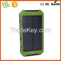 Innovative corporate gifts for solar power bank10000mah mobile phone s