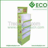 The point sale of cardboard pop floor display in shenzhen