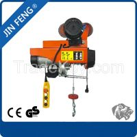 12V Small Size Electric Hoist with Double Hooks mini Hoist Crane 500kg