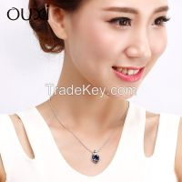 11012-1 OUXI Jewelry fashion heart necklace Made With Swarovski Elements