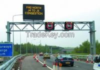 IP65 Waterproof 1R1W Aluminum Speed Limit Led display Traffic Signs Controlled by PC