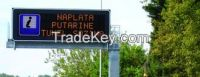 Long Life White Color Fame 1R1W Single Chip Led Traffic Display Sign 900.5x600.5 x 69mm