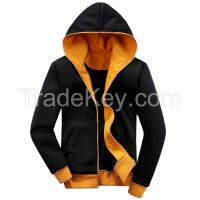 China Factory Custom AZO Free Men's Spring Autumn Hih Quality Full Zipper Plain Hoody Sweatshirt