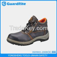 GuardRite Brand Low Price Genuine Leather Steel Toe Cap Shoes Industrial Safety Shoes