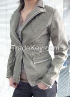 women 100% cotton canvas coats