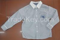 100% cotton twill kids shirts