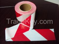 red and white strip warning tape