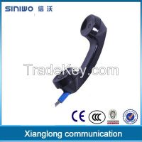 PC handset with coiled cable