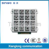 Backlight metal gate opener keypad with 4x4 button