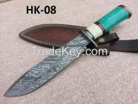 Damascus hand made hunting knife HK-08