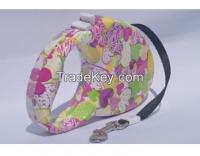 Dog Retractable Leash(Hearts or Flower Design), Medium Size, 10 Feet L
