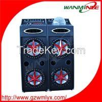 Dual 10 inch bass 2.0 active audio speaker DJ active loudspeaker with