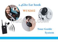 Mini Ear-hook receiver for tourism & church & conference & teaching