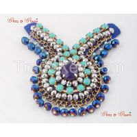 Brooches - Sapphire stone brooch crafted in a unique design in different hues of blue